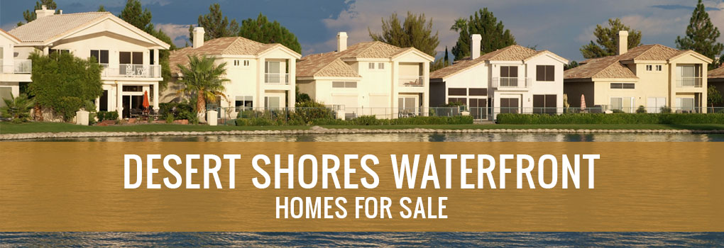 desert shores waterfront homes for sale