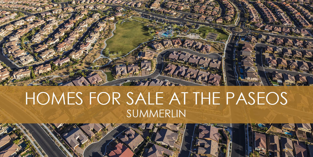 paseos homes for sale in summerlin